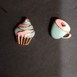 PASTEL CUPCAKE AND COFFEE/TEA EARRINGS